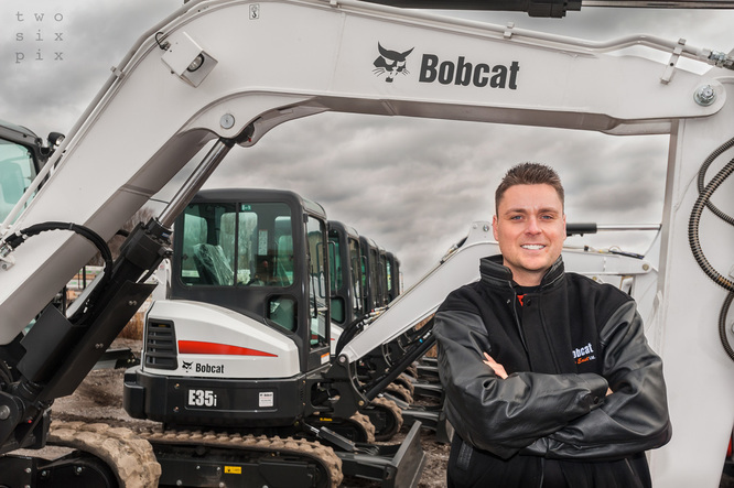 Commercial Photography Durham Bobcat Dealership